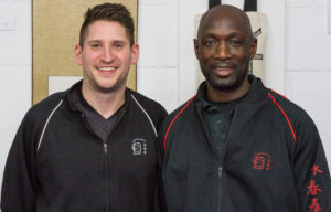 Mark Blackbourn with senior Wing Chun teacher Master Eric Wilson